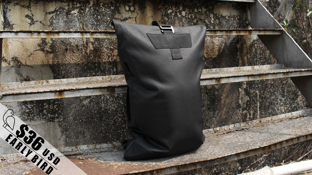Alex backpack : 500g weather proof minimal urban commute bag