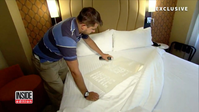 inside edition sources: even 5-stars hotels are not so clean (spray the bed and check-out)