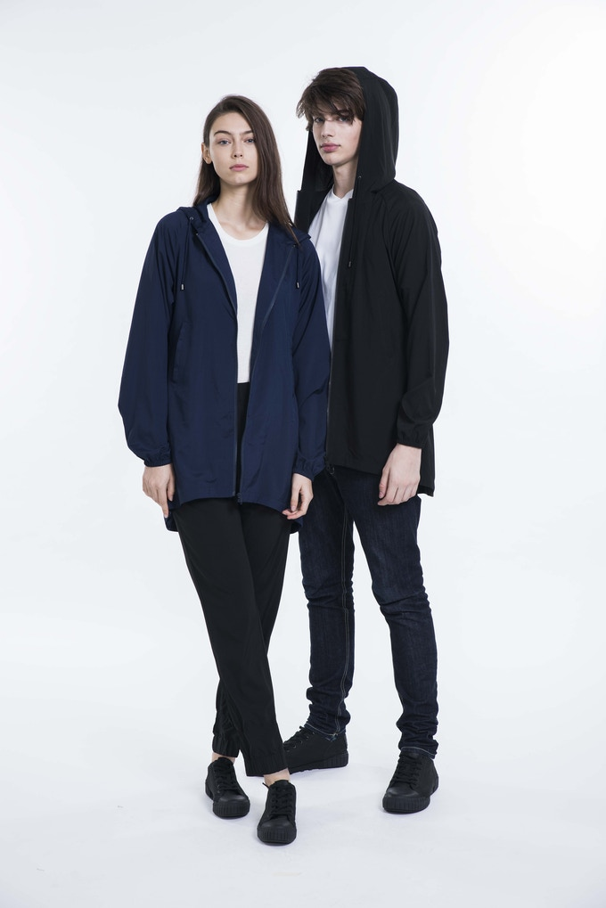 Permanent 99% Germs Killing Unisex Overcoat- Female model (178cm) wears a size 1 - Male model (185cm) wears a size 2