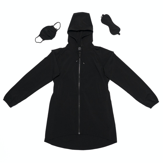 99% Permanent Germs Killing Unisex Overcoat Set - Black