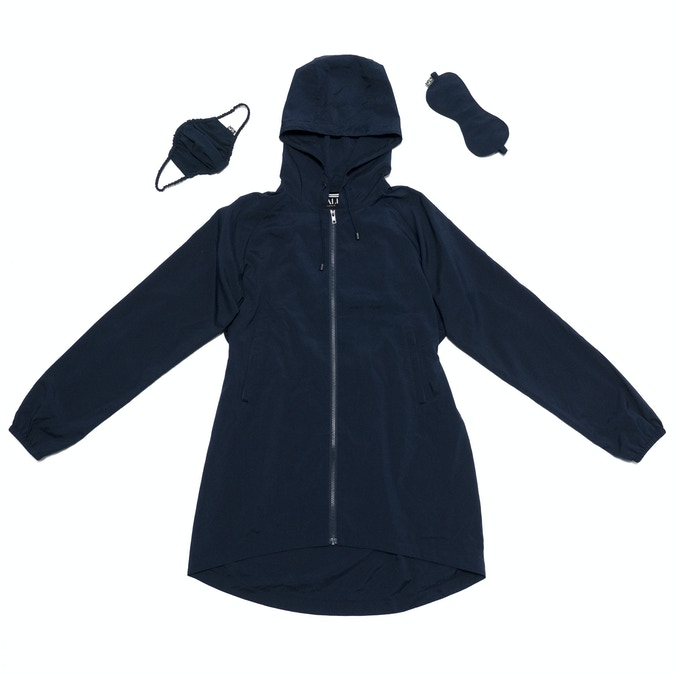 99% Permanent Germs Killing Unisex Overcoat Set - Navy
