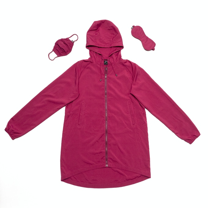 99% Permanent Germs Killing Unisex Overcoat Set - Fuchsia