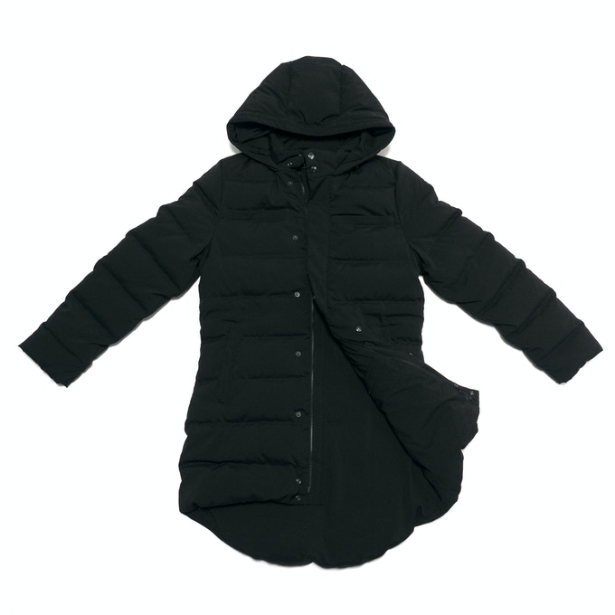 99% Permanent Germs Killing Unisex Down Coat Set - Black