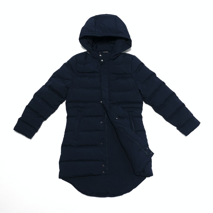 99% Permanent Germs Killing Unisex Down Coat Set - Navy