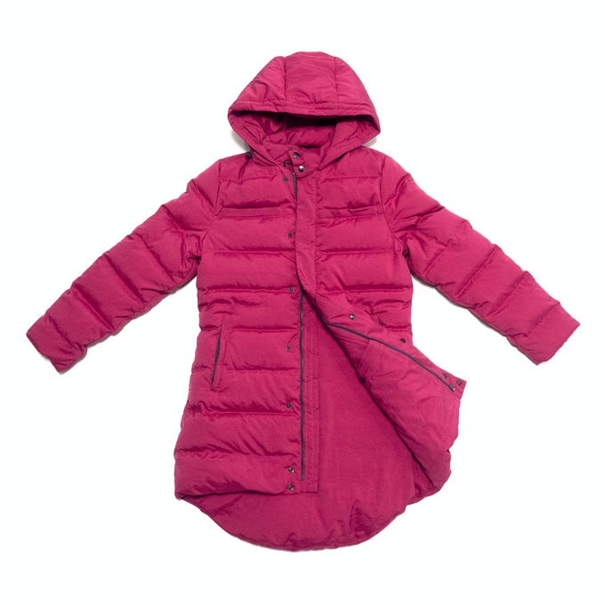 99% Permanent Germs Killing Unisex Down Coat Set - Fuchsia