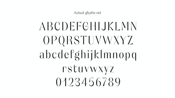 Orelo - Actual Glyph set