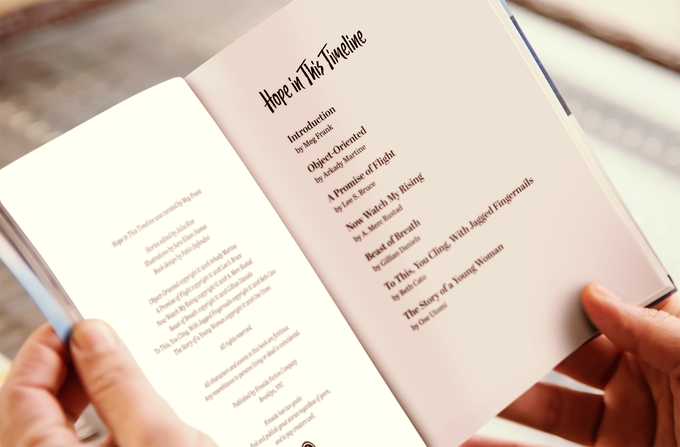 a simulated mock-up of the Hope in This Timeline zine