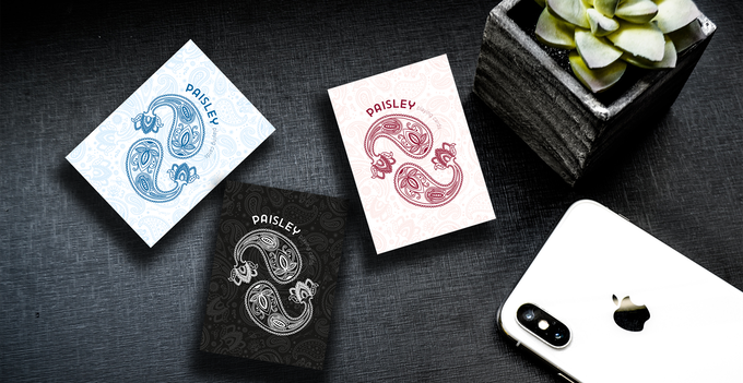 Paisley Playing Cards Special Edition Ruby Red & French Blue