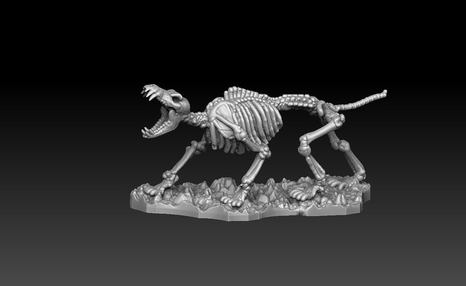 Skeletal Wolf A