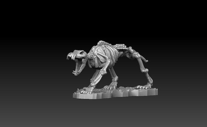 Skeletal Wolf B