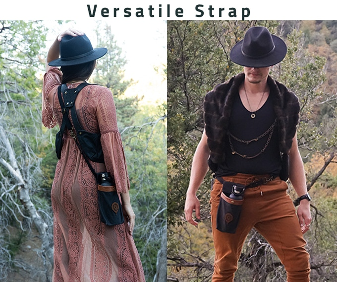 Strap may be worn cross-body or around waist. (Add-on instructions in pledge selection.)