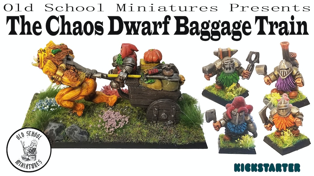 OSM presents The Chaos Dwarf Baggage Train miniatures project video thumbnail