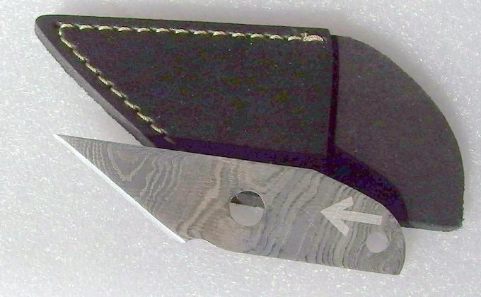 Damascus utility knife