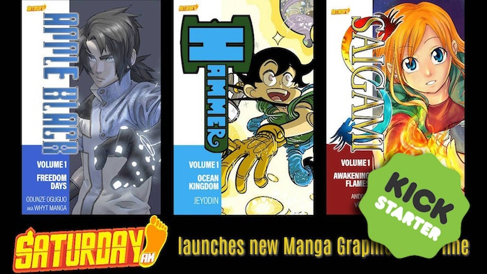 A new line of graphic novel collections of Saturday AM's most popular diverse shonen manga series.