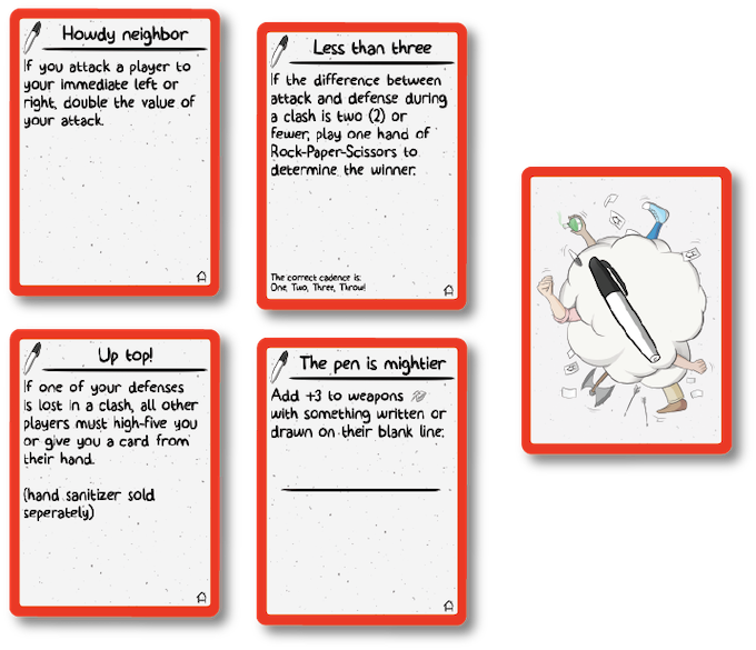 Example Rule cards from the Rules Deck
