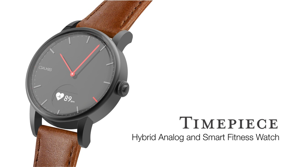 Minimalist Analog Watch with Heart Rate Monitor project video thumbnail