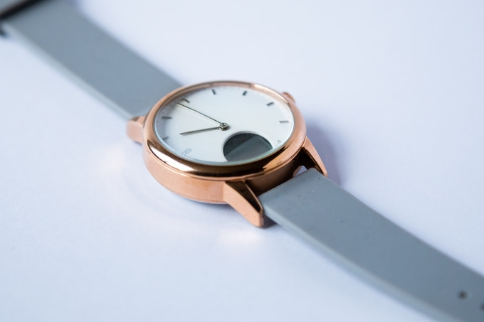 1c954631b Minimalist Analog Watch with Heart Rate Monitor by Oaxis — Kickstarter