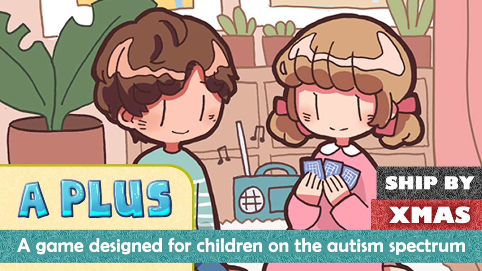 A game designed to reinforce and improve social skills for children on the autism spectrum.