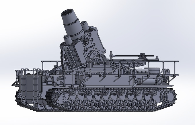 Karl Gerat - a self-propelled, super-heavy siege mortar