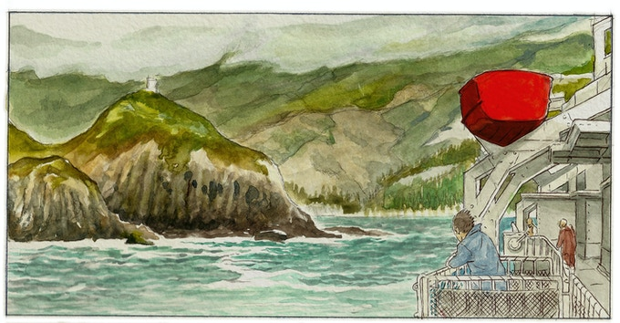 Marlborough Sounds as shown in the book