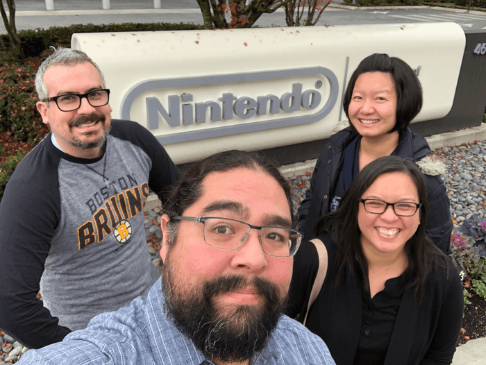 We did a tour of all the local video game companies :)