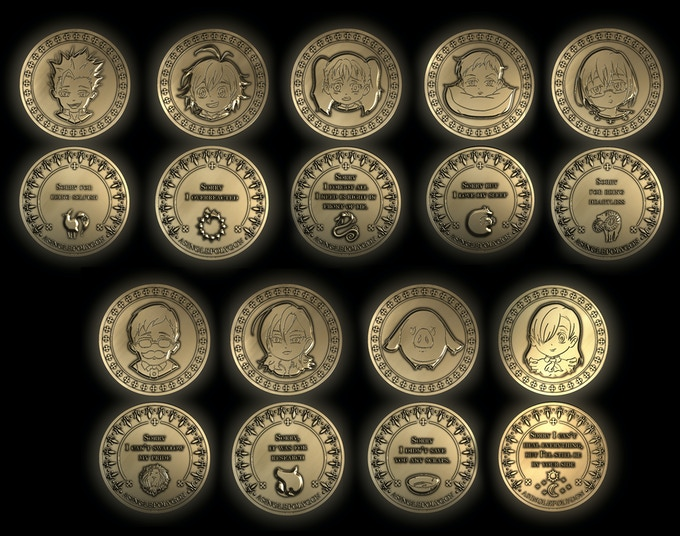 This is a 3d render I made.  The exact look of the physical coin will be a little different.
