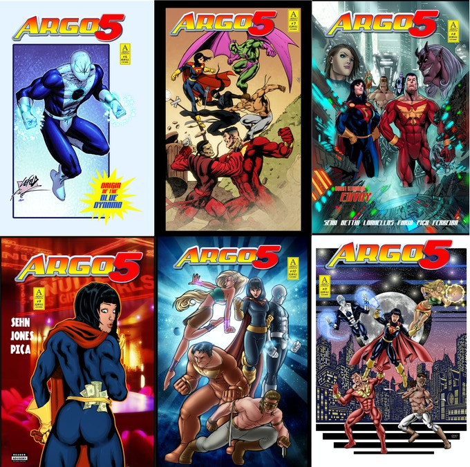 Argo 5 Covers from issue 6 to 11 included within this trade collection.