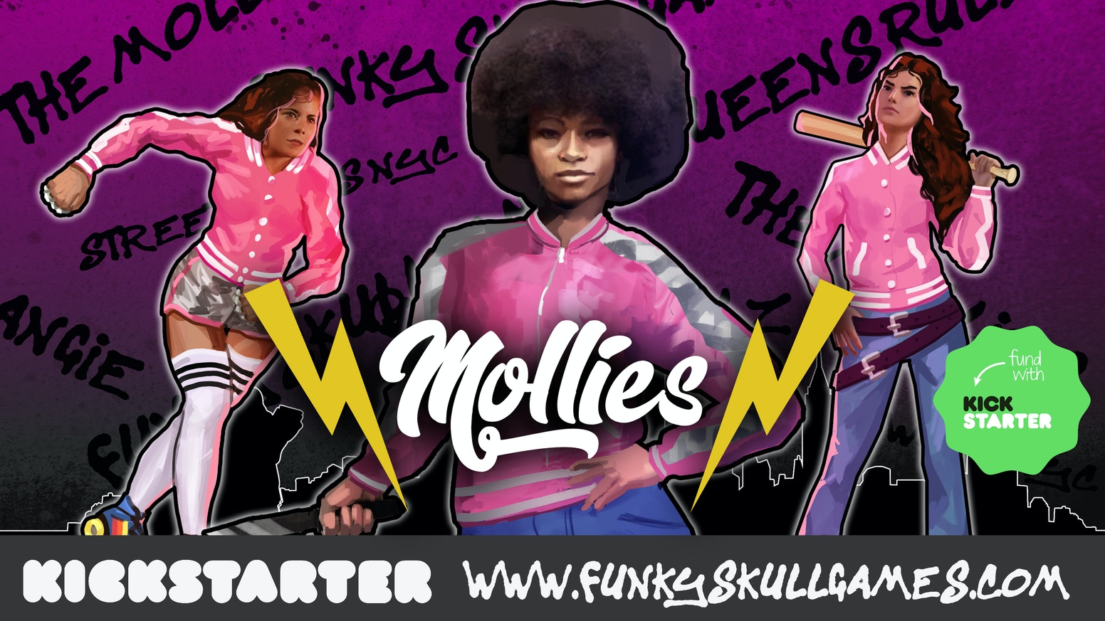 This Kickstarer has been launched to help me fund a new all Female gang for my Street War NYC game.