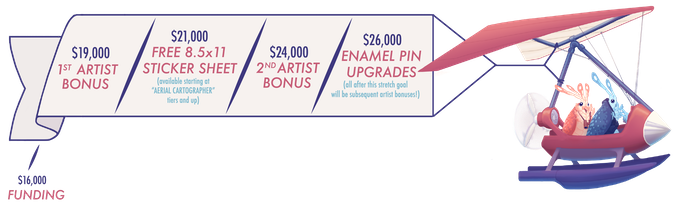 Swing's proven themselves to be quite the pilot. The sky's the limit with stretch goal enhancements for Volume 2!