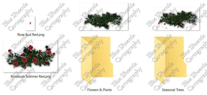 Pack 2 Flowers and Vegetation.  Seasonal Trees and other vegetation will be added soon!