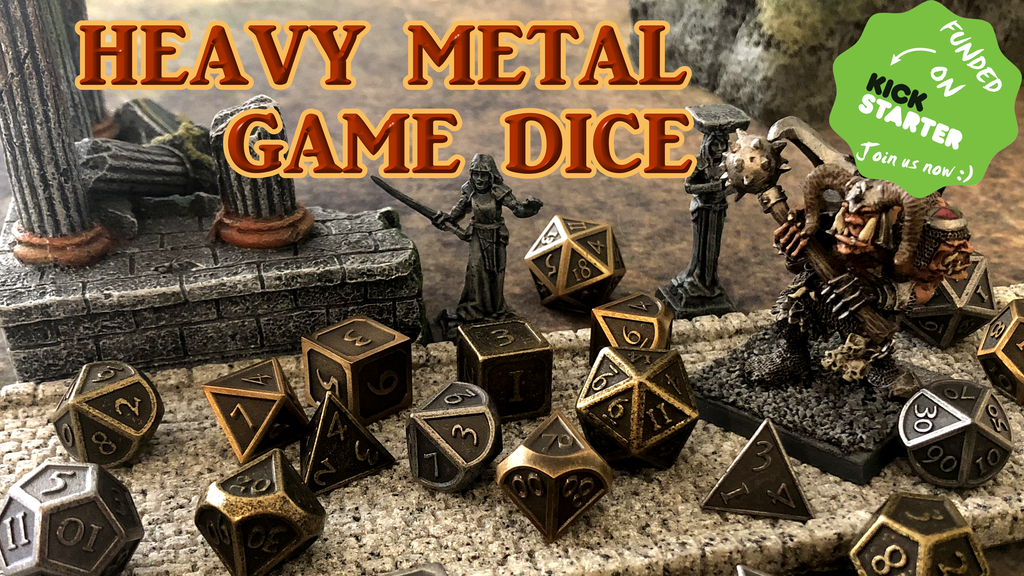 Ancient Alloy 100% Solid Metal Heavy Dice for Gamers project video thumbnail