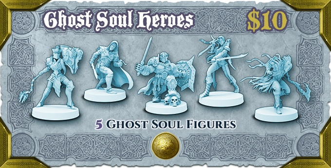Use the Ghost Soul Form miniatures to enhance your visual game experience.