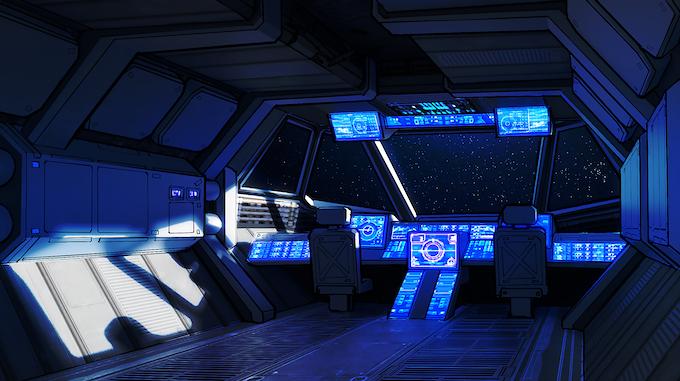 Concept Art of the EX-MV.6277 Bridge by Eric Geusz