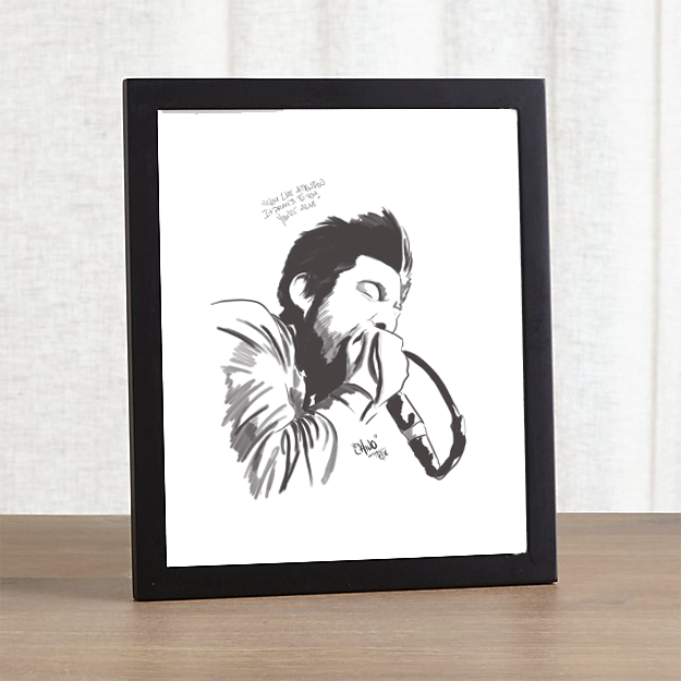 Frame not included with print