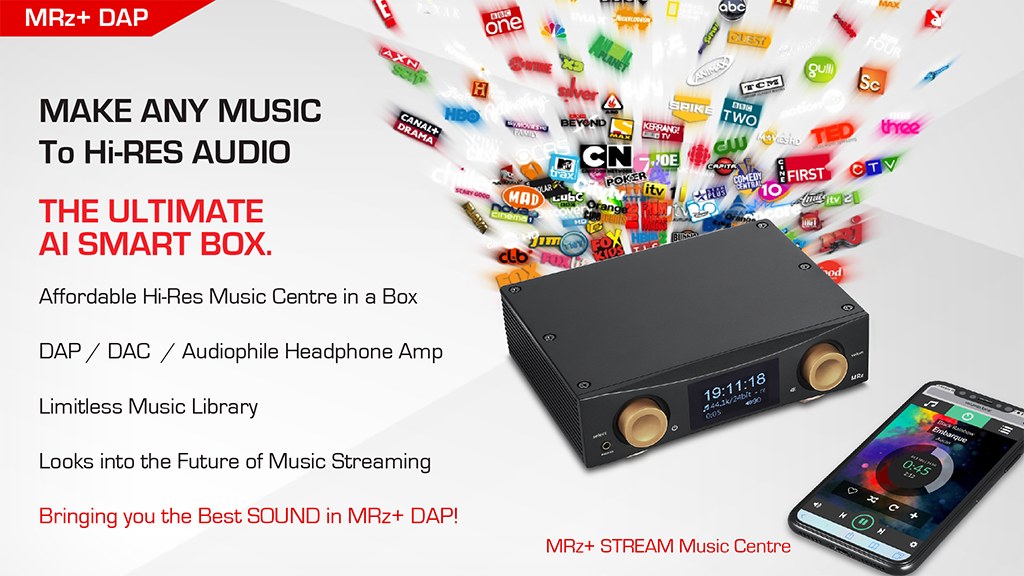 MRz+ UHD Music Server as the digital hub in a high-end audio