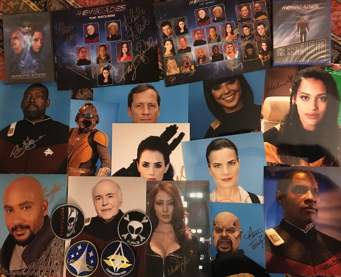 An example of what you'd get in the Renegades Special #4 package. (The twelve cast photos chosen at random.)