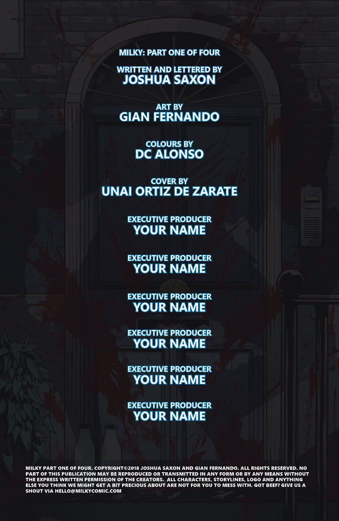 Credits (with placeholders for backer names)