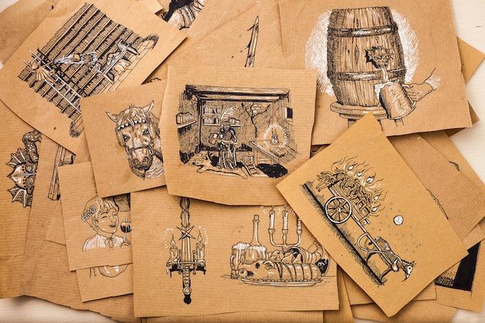 Artwork pile