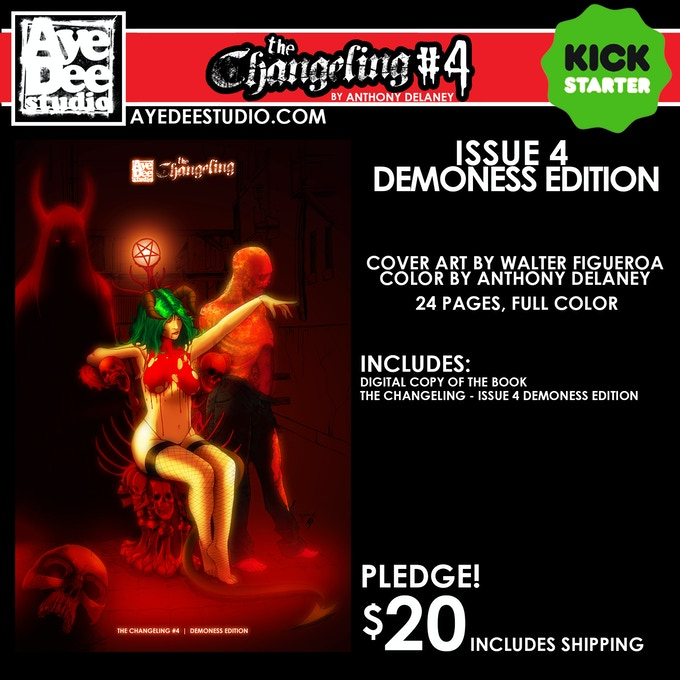 The Changeling Issue 4 Demoness Main Edition