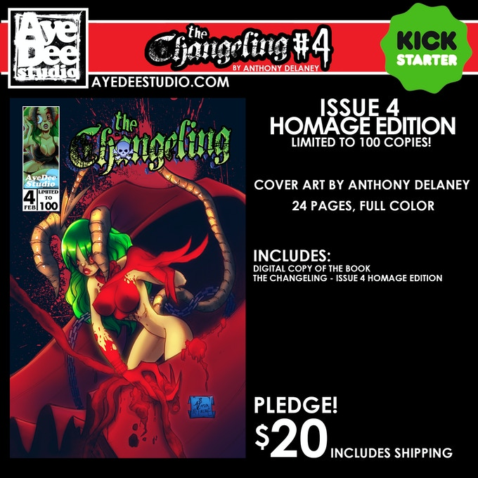 The Changeling Issue 4 Homage Main Edition - Limited to 100 Copies!