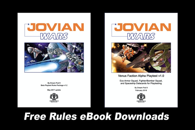Free Jovian Wars Rules and Venus Faction Playtest eBook (pdf) downloads.
