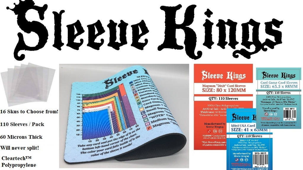 Sleeve Kings 60 Micron Standard Card Sleeves for Board Games project video thumbnail