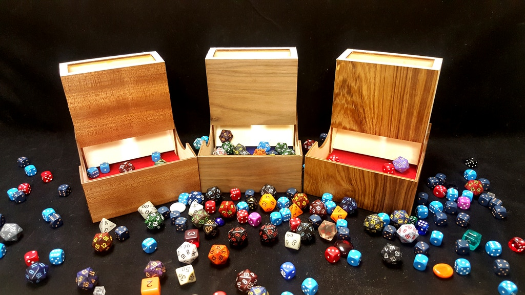 Compact Wooden Dice Tower & Storage Combo Hardwood Accessory project video thumbnail