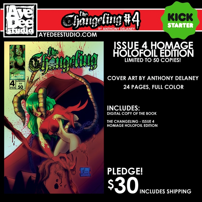 The Changeling Issue 4 Homage Holofoil Edition - Limited to 50 Copies!