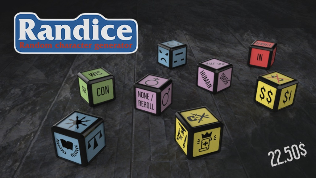 Randice: Dungeons And Dragons Character Generator Dice Set project video thumbnail
