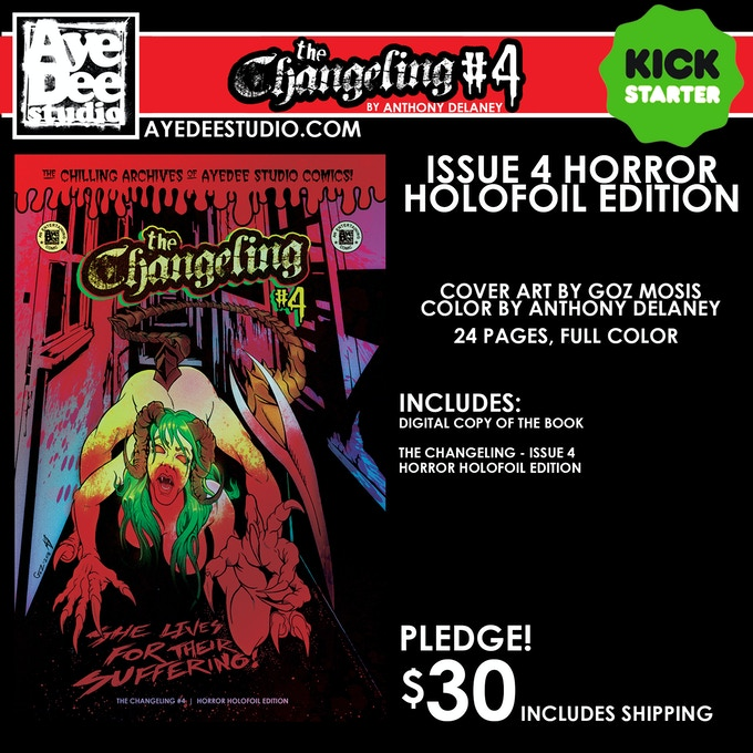 The Changeling Issue 4 Horror Holofoil Edition