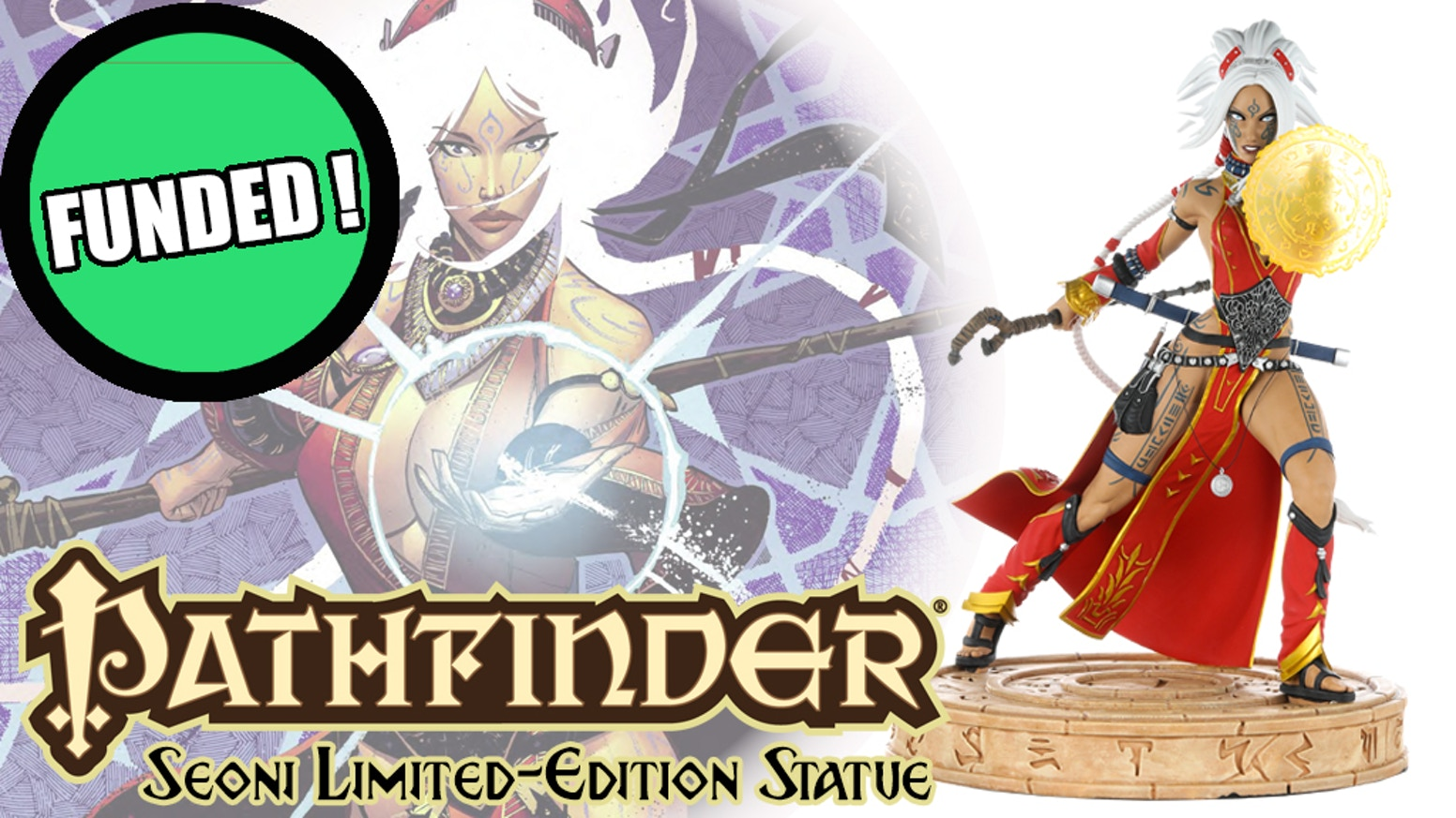 Pathfinder's first resin statue, featuring Seoni the sorcerer.