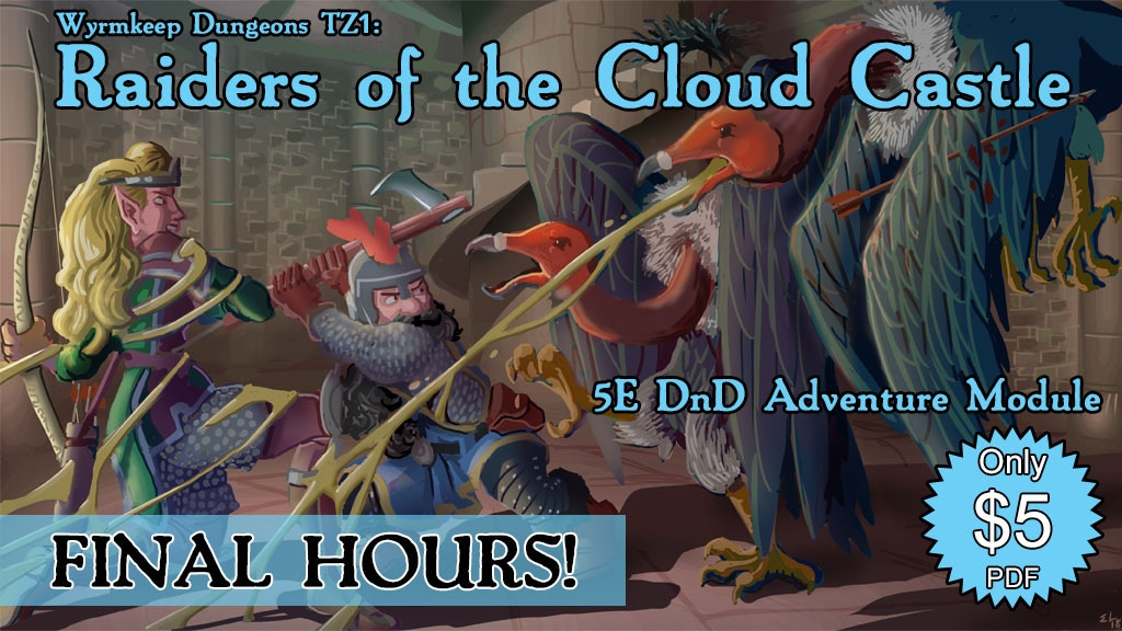 Wyrmkeep Dungeons TZ1: Raiders of the Cloud Castle project video thumbnail