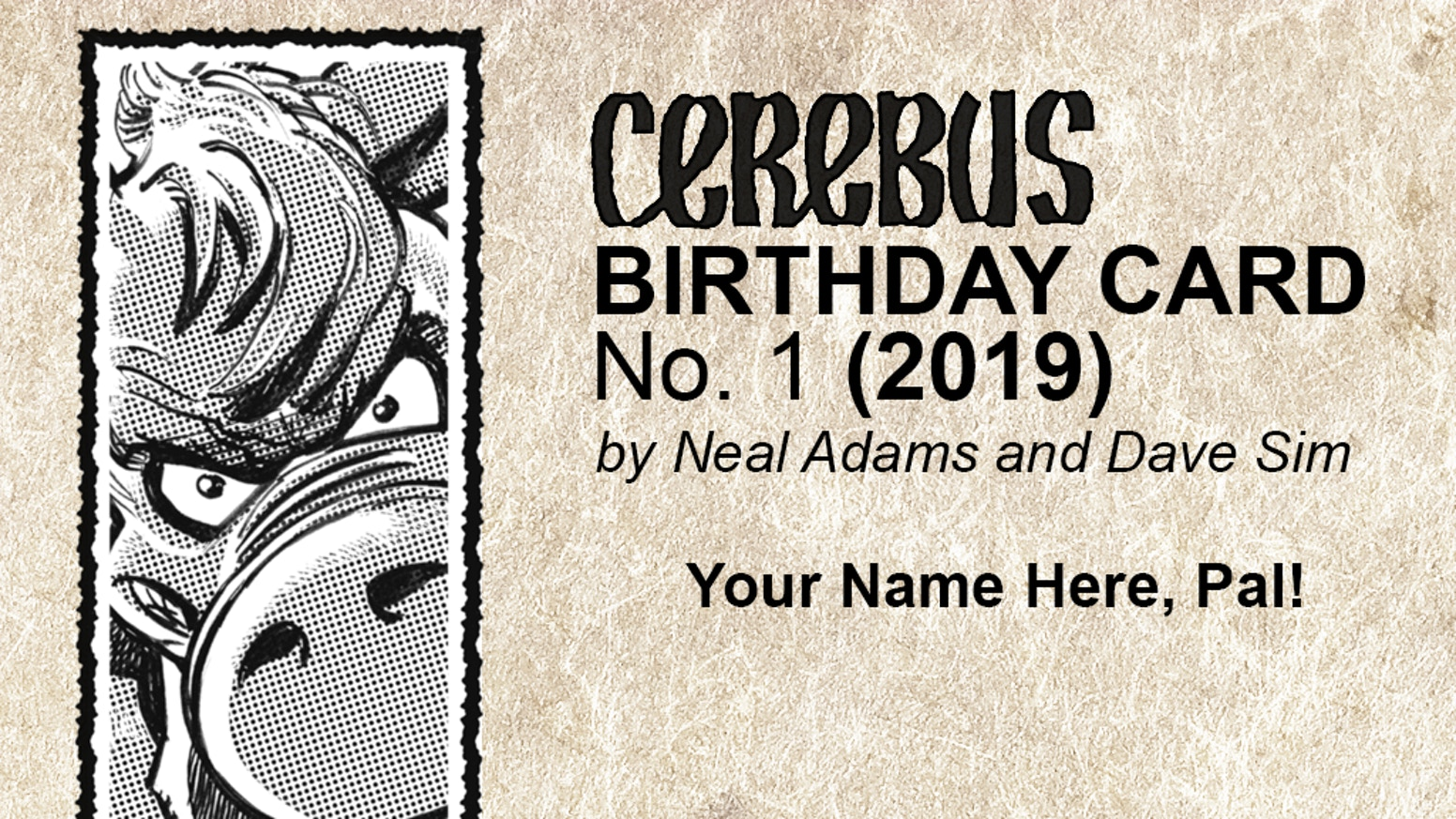 Cerebus Birthday Cards Designed And Drawn By Neal Adams Dave Sim With Custom