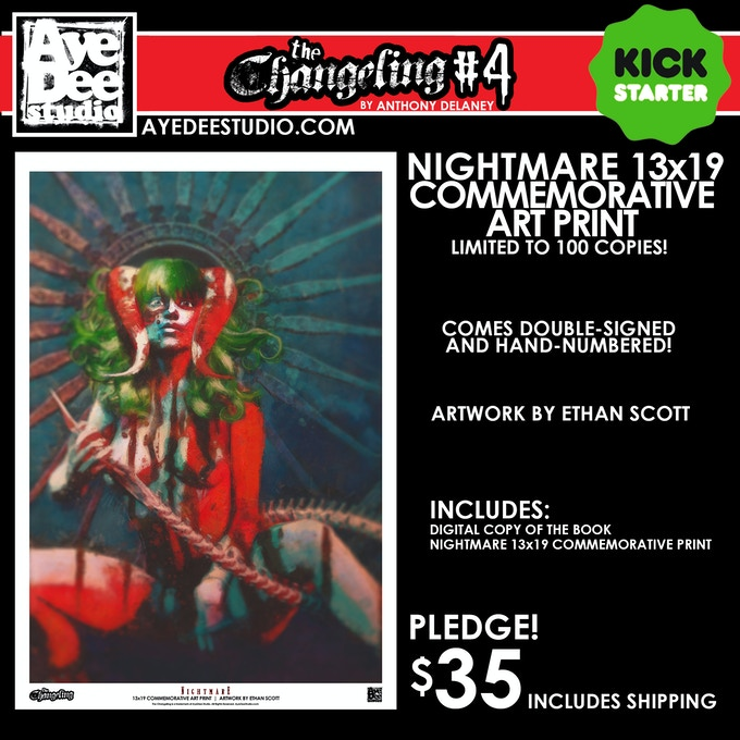 The Changeling Issue 4 13x19 Commemorative Art Print - Limited to 100 Copies!